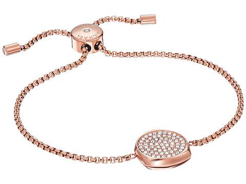 Michael Kors Brilliance Slider Bracelet with Pave Disc - Rose Gold