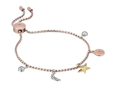 Michael Kors Brilliance Slider Bracelet with Tri-Tone Celestial-Inspired Charms - Rose Gold