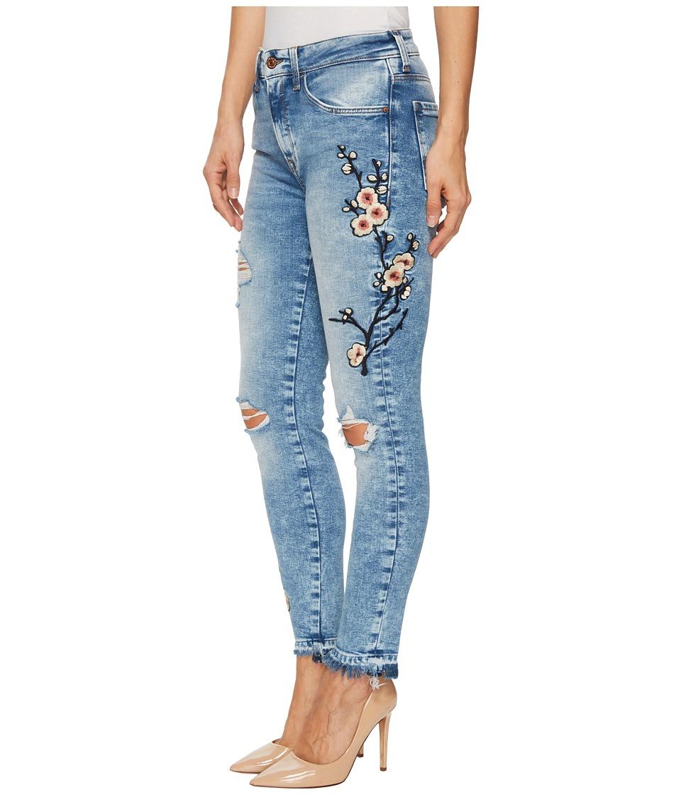 Mavi Jeans Tess High-Rise Ankle Super Skinny in Mid Japanese Embroidery (Mid Japanese Embroidery) Women
