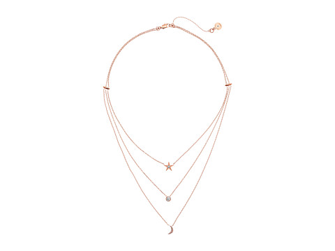 Michael Kors Brilliant Celestial Layered Chain Necklace - Rose Gold