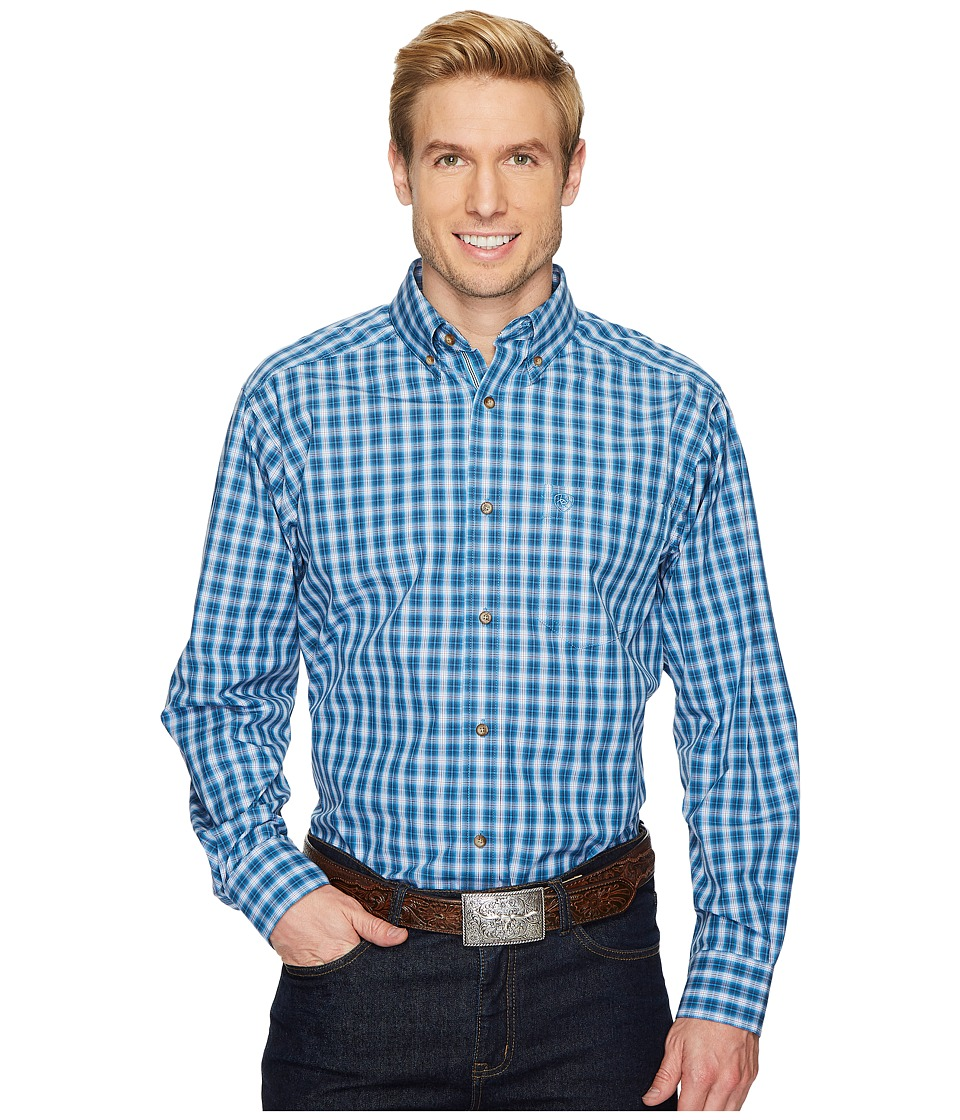 Ariat - Chester Shirt (Cendre Blue) Mens Long Sleeve Button Up