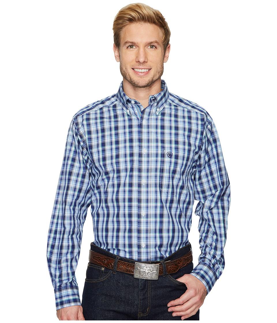 Ariat - Danny Shirt (Blue Frond) Mens Long Sleeve Button Up