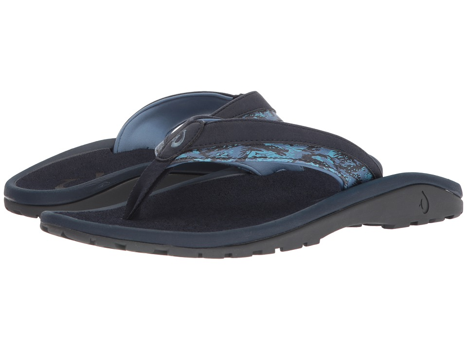 OluKai - 'Ohana Koa (Trench Blue/Dive Camo) Men's Sandals