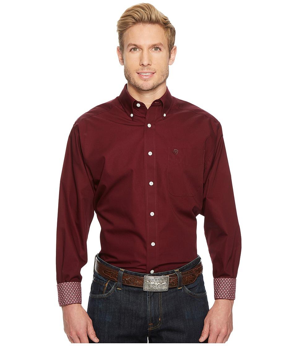 Ariat - Solid Shirt (Bourgogne) Mens Clothing
