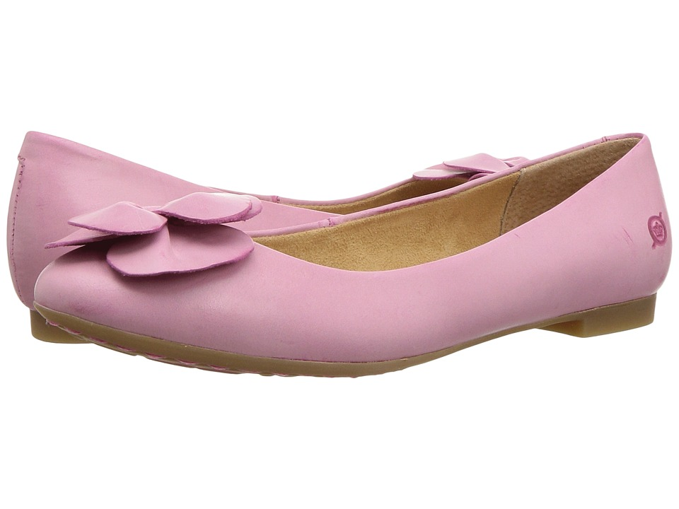 Retro Vintage Flats and Low Heel Shoes Born - Annelie Dark Pink Full Grain Leather Womens Flat Shoes $95.00 AT vintagedancer.com