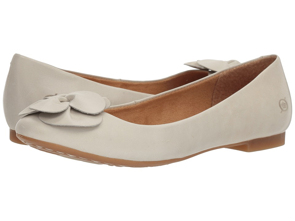 Retro Vintage Flats and Low Heel Shoes Born - Annelie White Full Grain Leather Womens Flat Shoes $95.00 AT vintagedancer.com