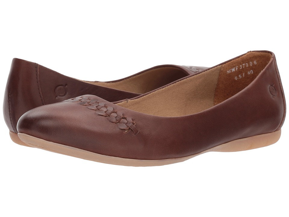 Born Madeleine (Red/Brown Full Grain Leather) Flats