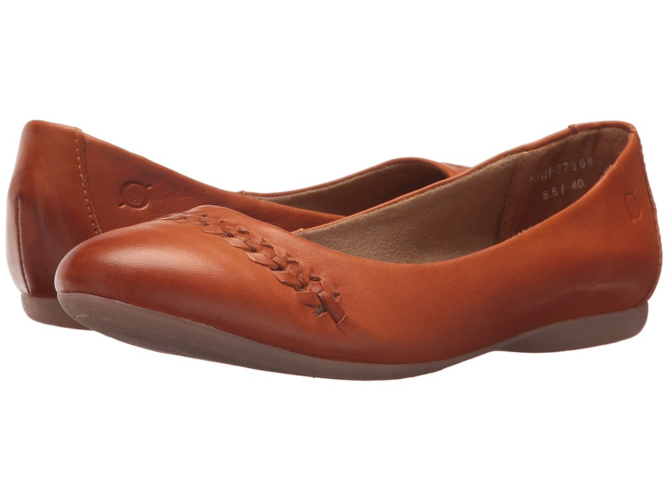 Born Madeleine (Mango Full Grain Leather) Flats