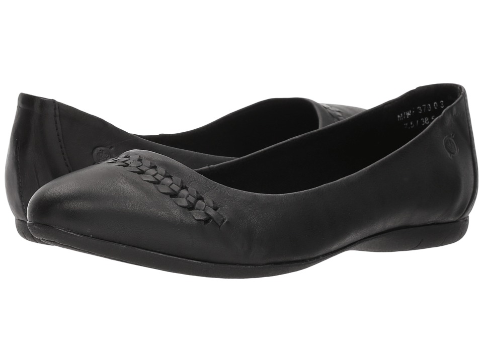 Born Madeleine (Black Full Grain Leather) Flats