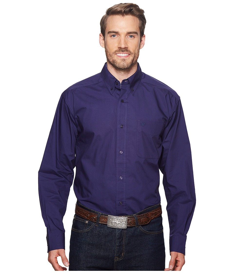 Ariat - Solid Poplin Shirt (Astral Aura) Mens Clothing