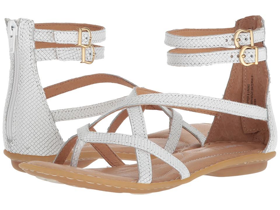 Born - Mai Gladiator (White Embossed Full Grain Leather) Womens Sandals
