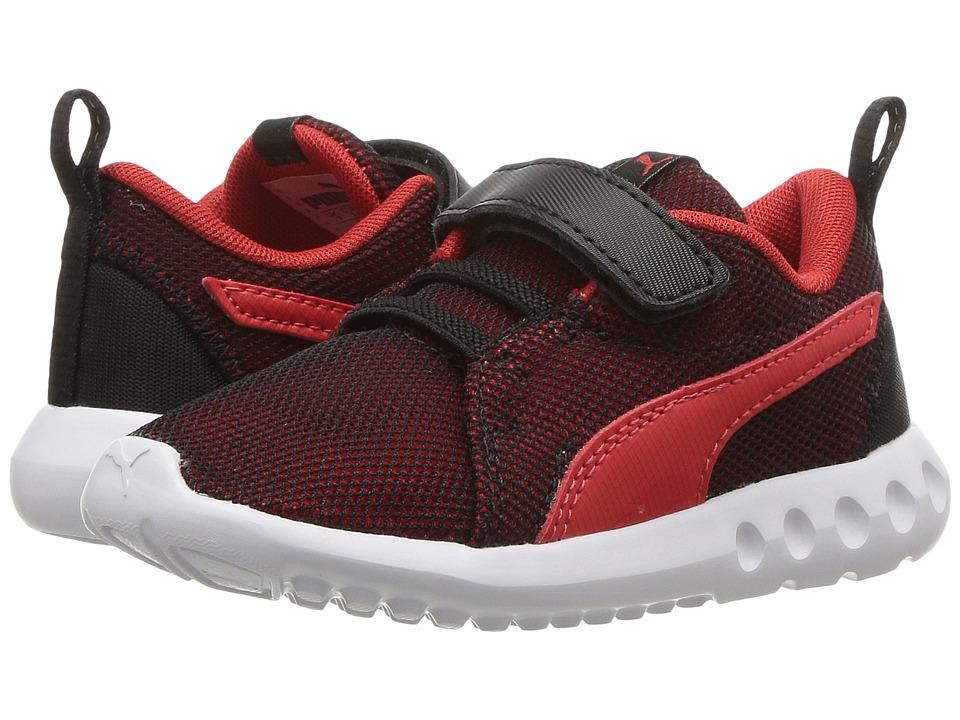 Puma Kids - Carson 2 Breathe V (Toddler) (Puma Black/Flame Scarlet) Boys Shoes