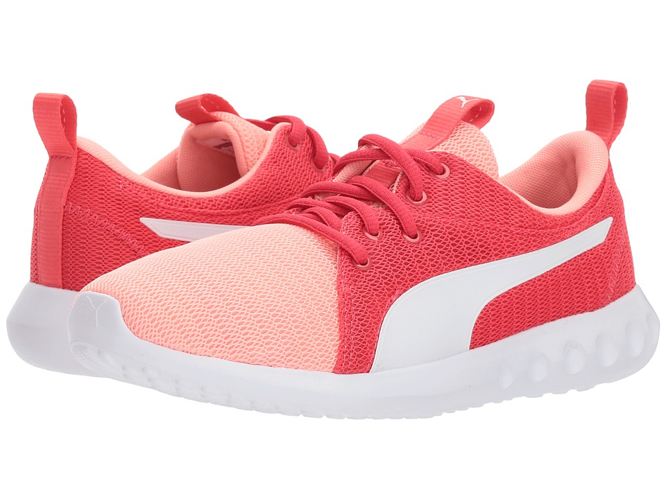 Puma Kids Carson 2 (Big Kid) (Soft Fluo Peach/PUMA White) Girls Shoes