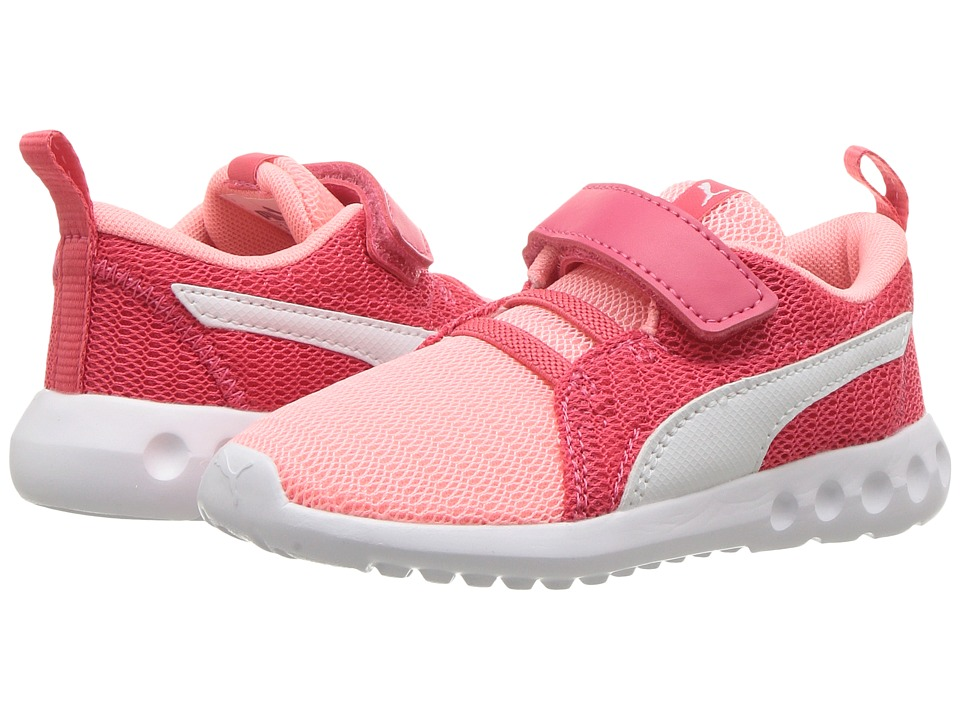 Puma Kids Carson 2 V (Toddler) (Soft Fluo Peach/PUMA White) Girls Shoes