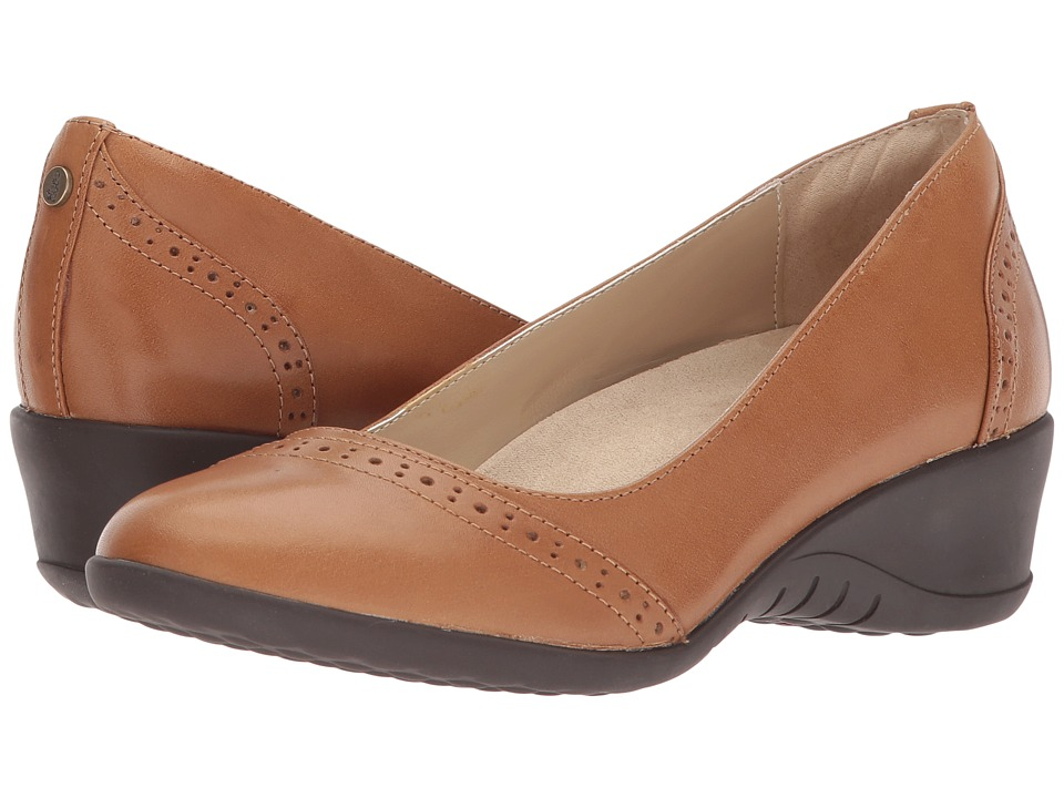 Hush Puppies Odell Slip-On (Tan Leather) Wedges