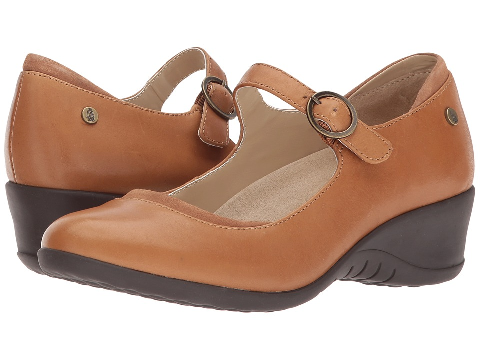 Hush Puppies Odell Mary Jane (Tan Leather) Wedges