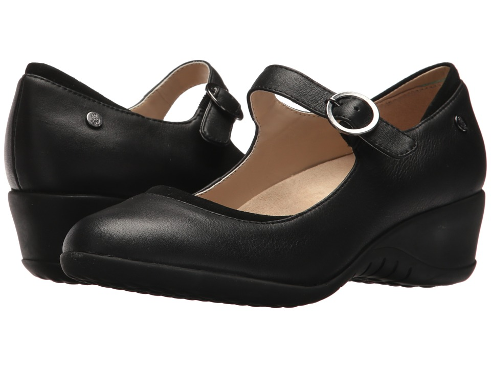 Hush Puppies Odell Mary Jane (Black Leather) Wedges