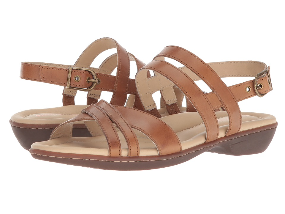 Hush Puppies Dachshund Strappy (Tan Leather) Women's Sandals