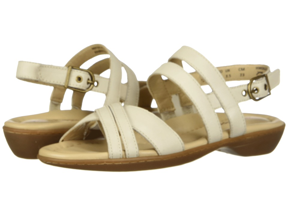 Hush Puppies Dachshund Strappy (Ivory Leather) Sandals