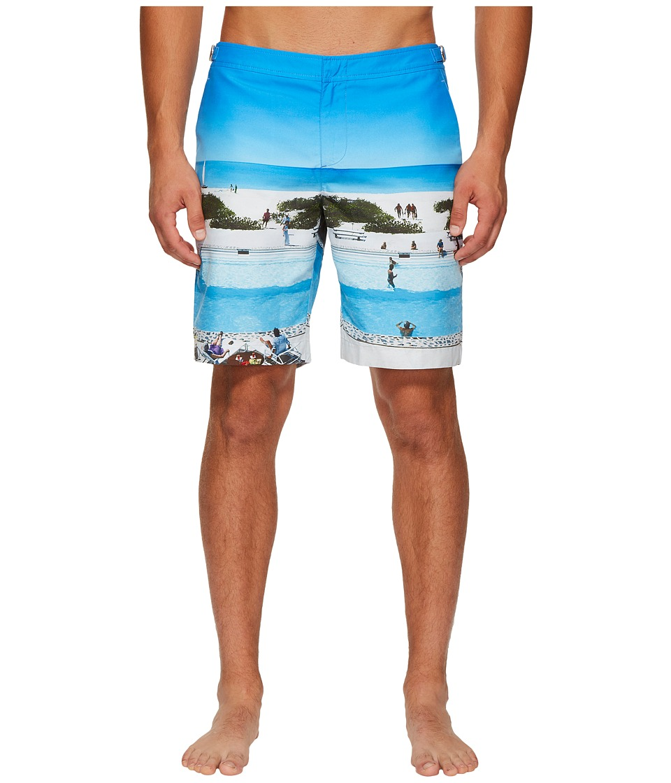Orlebar Brown - Dane Photographic Shorts (Pine Va-Cay) Mens Shorts