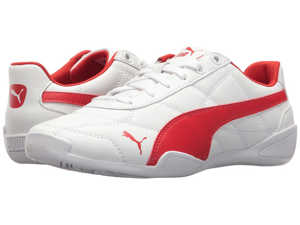 Puma Kids Tune Cat 3 (Big Kid) (Puma White/Flame Scarlet) Boy's Shoes