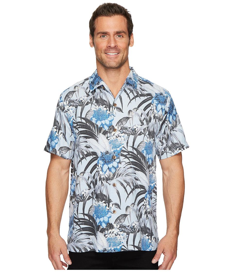 Tommy Bahama Garden of Hope and Courage IslandZone Camp Shirt (Glacier Blue) Men's Clothing