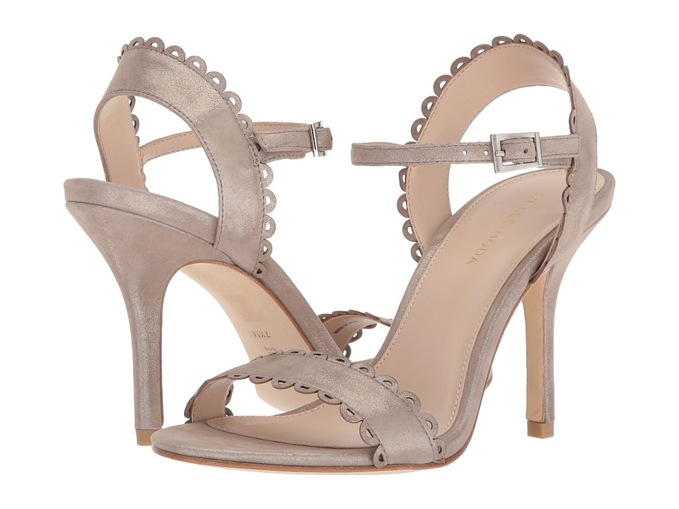 Pelle Moda - Karen (Dark Taupe Shimmer Suede) Womens Shoes