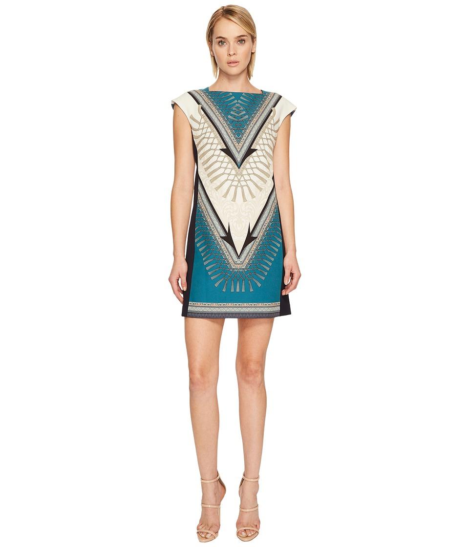 Versace Collection Ottanio Sleeveless Printed Dress (Teal) Women
