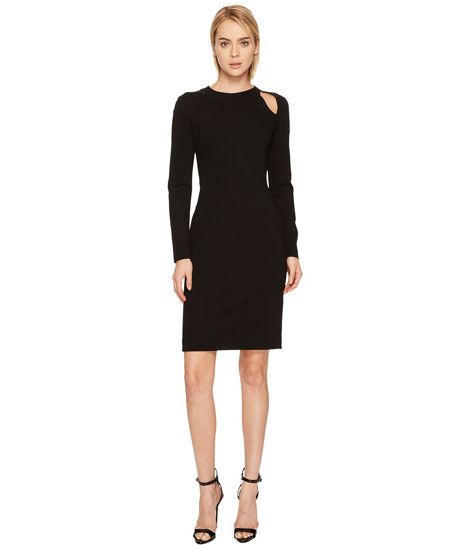 Versace Collection Long Sleeve Cut Out Jersey Dress (Black) Women