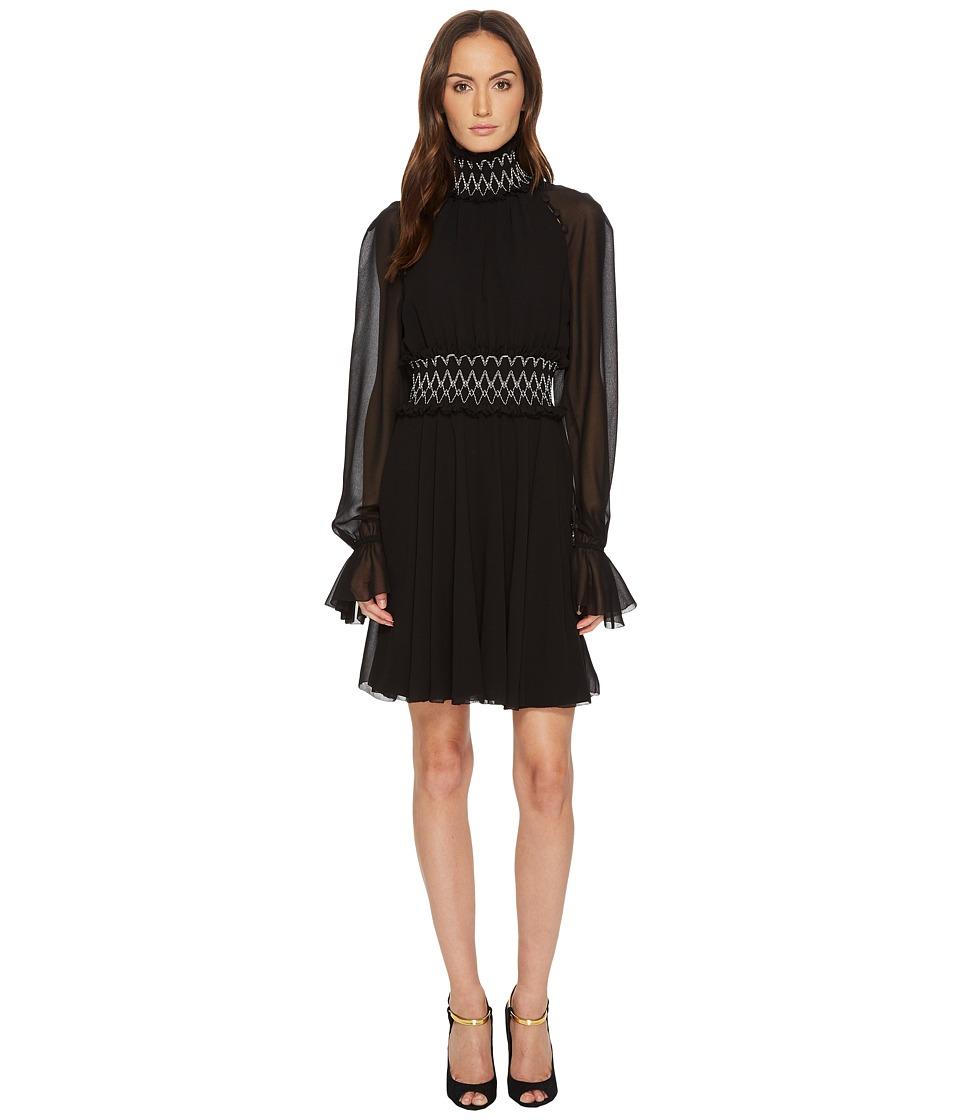 Versace Collection Long Sleeve Pergamena Dress (Black) Women