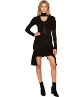 Versace Collection - Cut Out Mock Neck Long Sleeve Dress