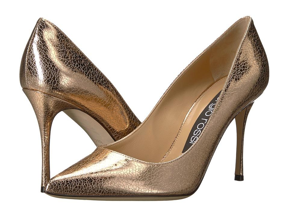 Sergio Rossi - Godiva (Oro Rosa Crack Lame) High Heels