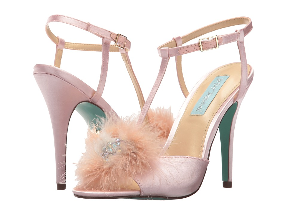 Blue by Betsey Johnson Kay (Blush Satin) High Heels