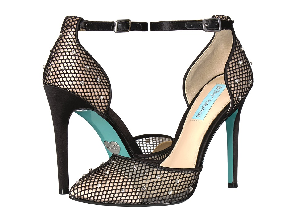 Blue by Betsey Johnson Falon (Black Mesh/Satin) High Heels