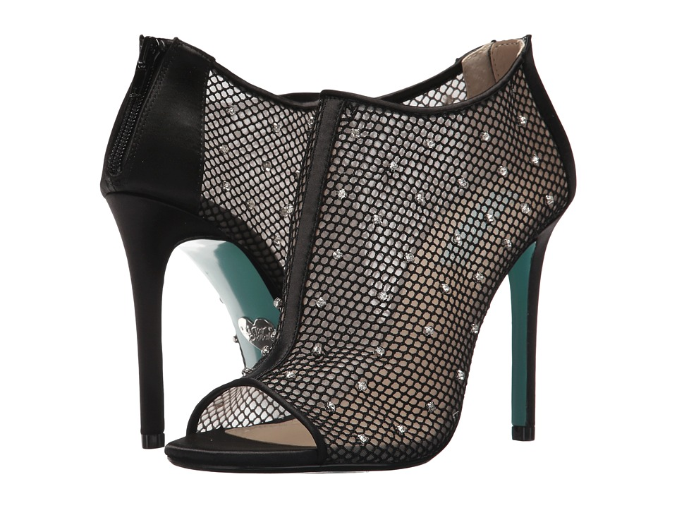 Blue by Betsey Johnson Luna (Black Mesh) High Heels