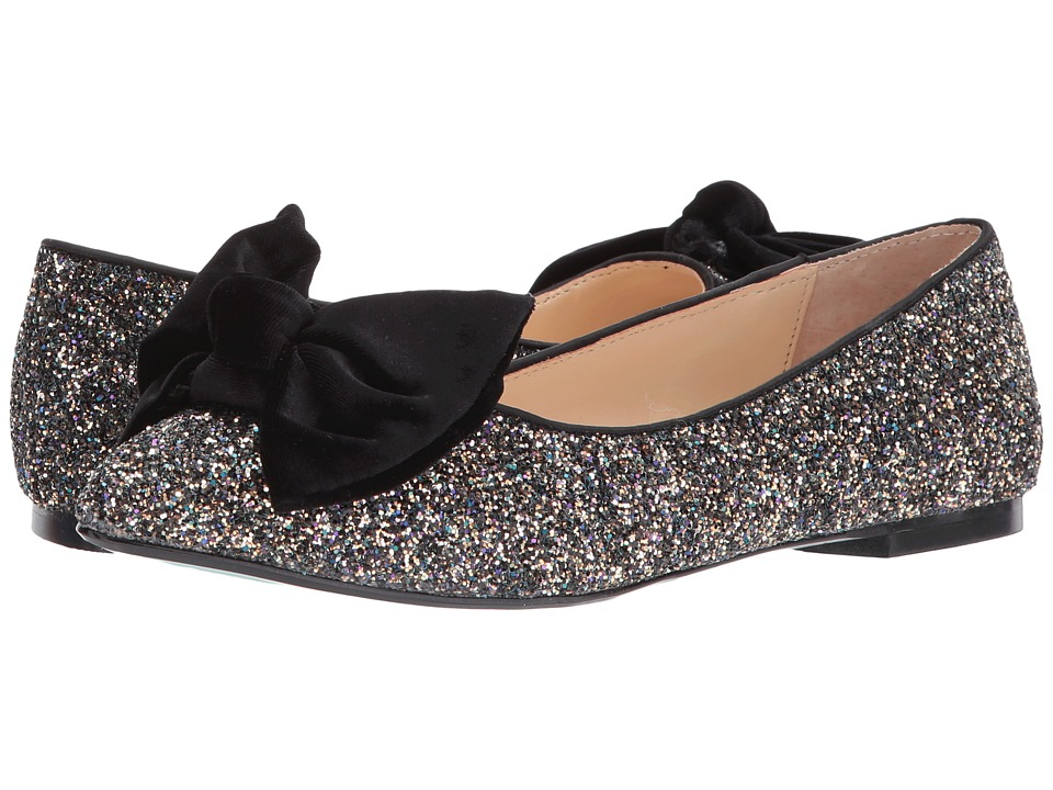 Blue by Betsey Johnson Amory (Black Glitter) Women