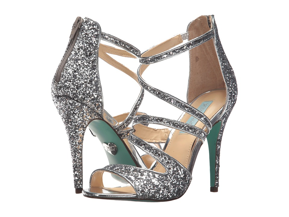 Blue by Betsey Johnson Izzy (Silver Glitter) High Heels