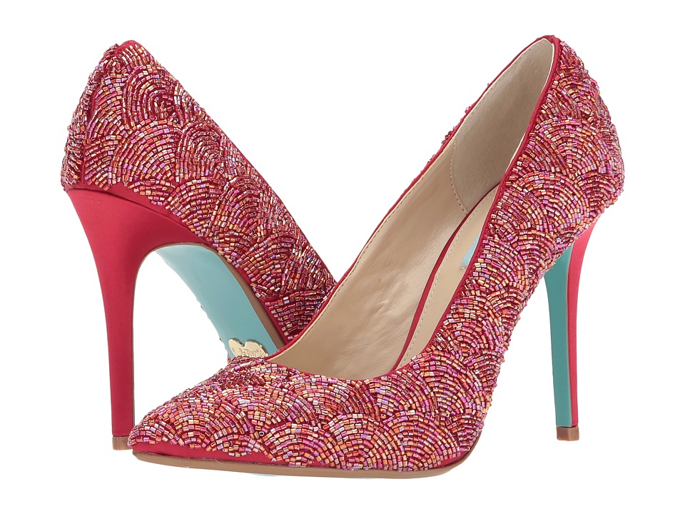 Blue by Betsey Johnson Clair (Red Satin) High Heels