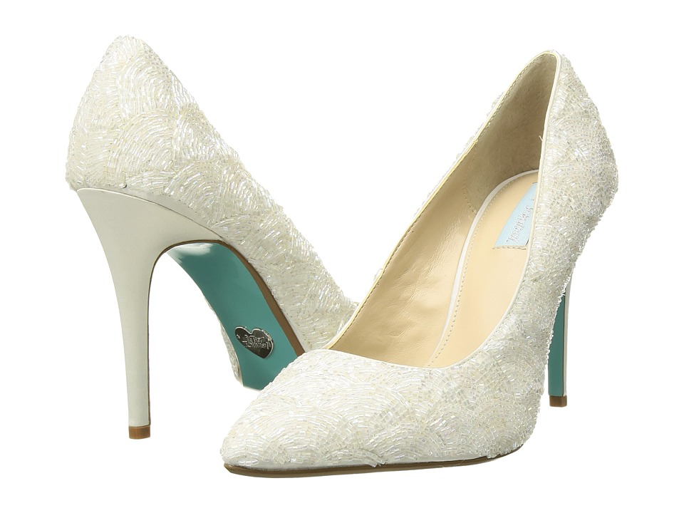 Blue by Betsey Johnson Clair (Ivory Satin) High Heels