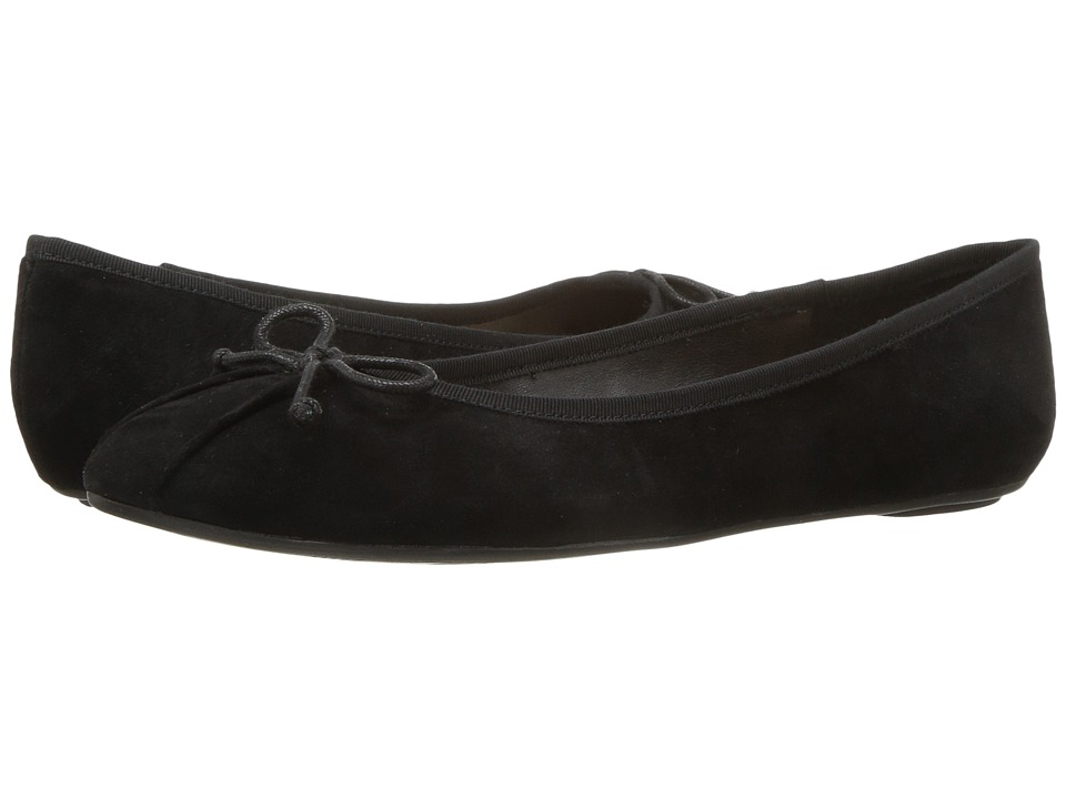 Nine West Batoka Ballerina Flat (Black/Black Suede) Women