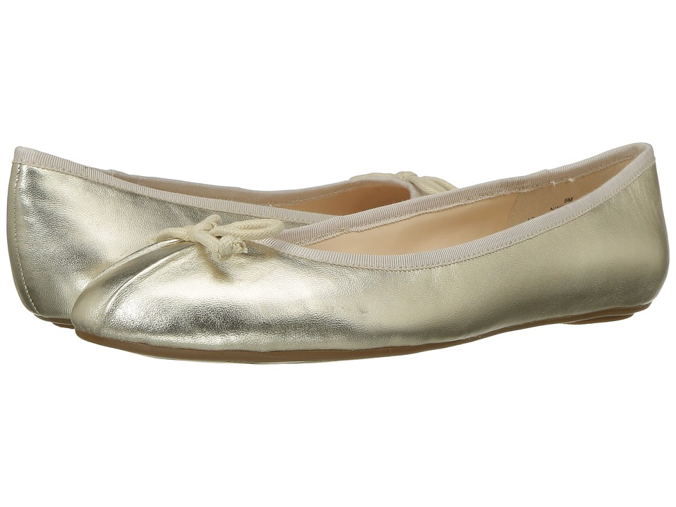 Nine West Batoka Ballerina Flat (Light Gold/Light Natural Metallic) Women