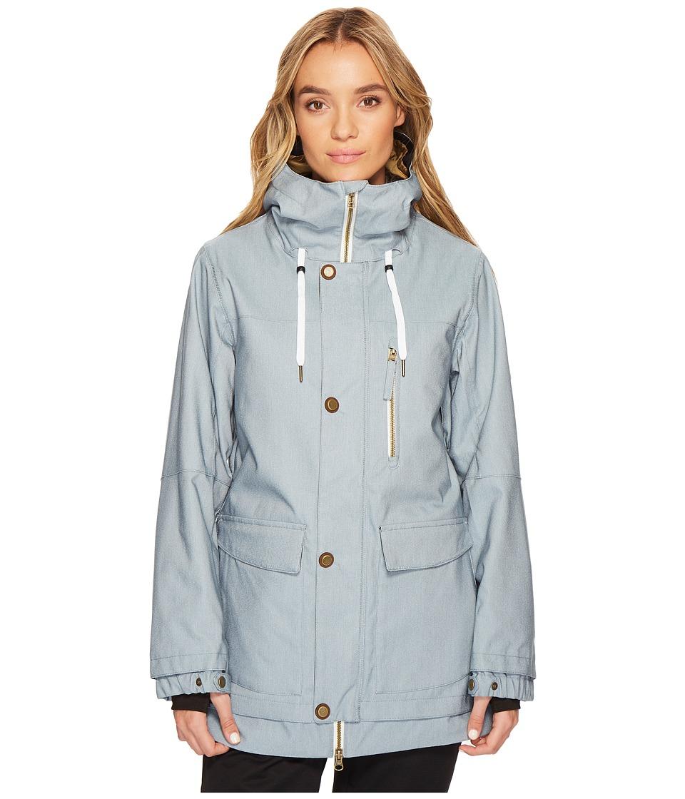 686 Phoenix Insulated Jacket (Light Blue Denim) Women's Coat