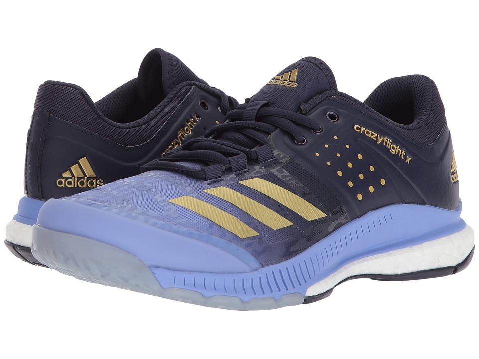 adidas - Crazyflight X (Chalk Purple/Gold Metallic/Noble Ink) Womens Volleyball Shoes