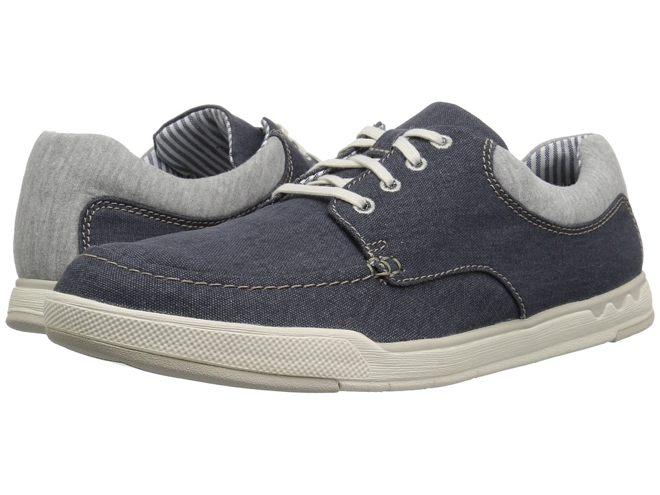 Clarks - Step Isle Lace (Navy Canvas) Mens Lace up casual Shoes