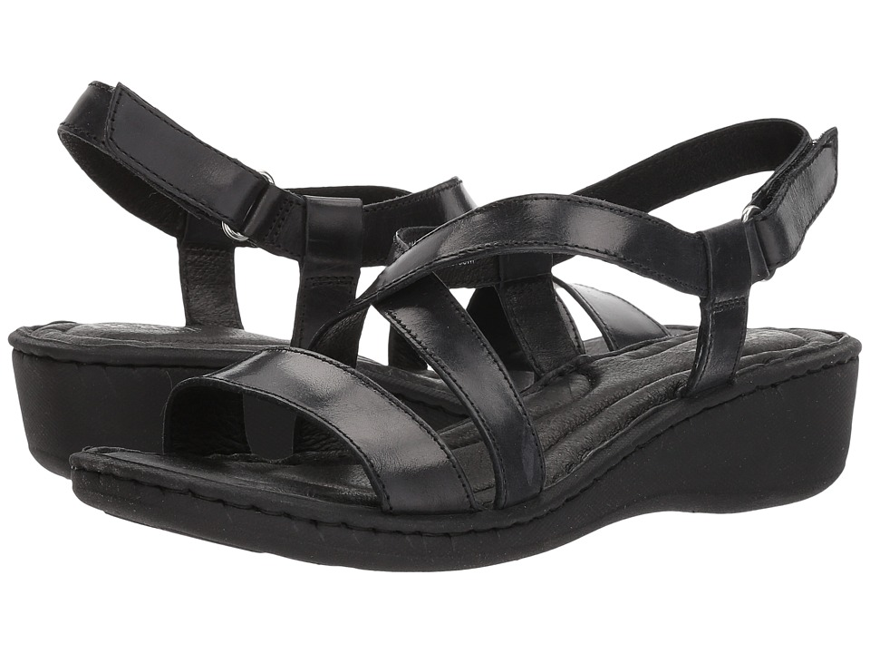Born Idella (Black Full Grain Leather) Sandals