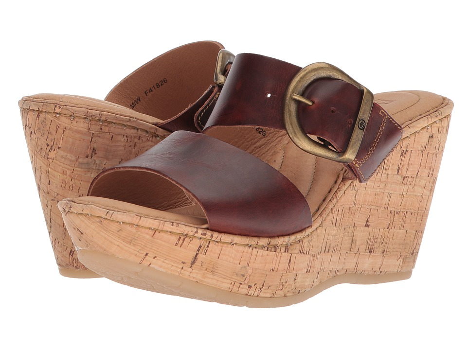 Born Emmy Band (Ginger Full Grain Leather) Wedges