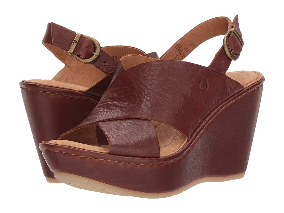 Born Emmy II (Red/Brown Full Grain Leather) Women