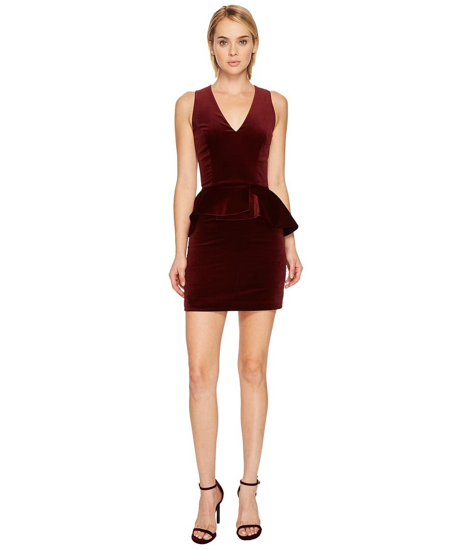 Pierre Balmain - Velvet Peplum Mini Dress