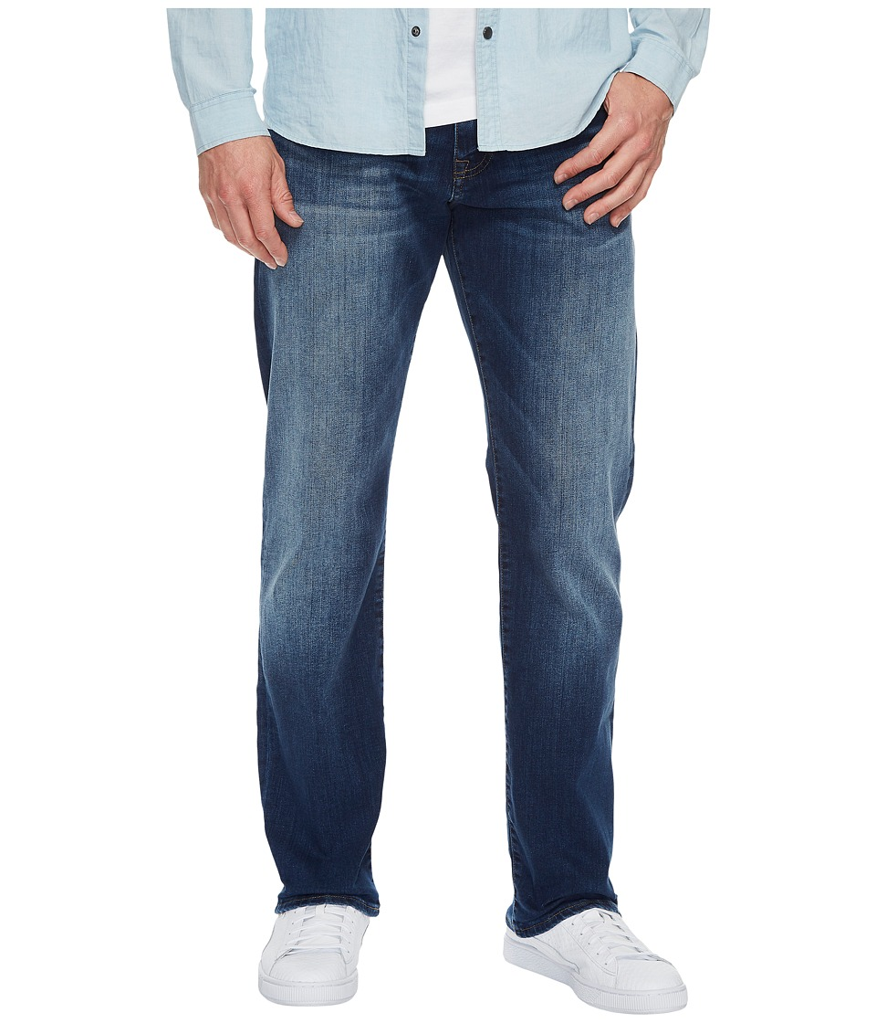 Mavi Jeans Myles Mid-Rise Straight Leg in Dark Used Williamsburg (Dark Used Williamsburg) Men