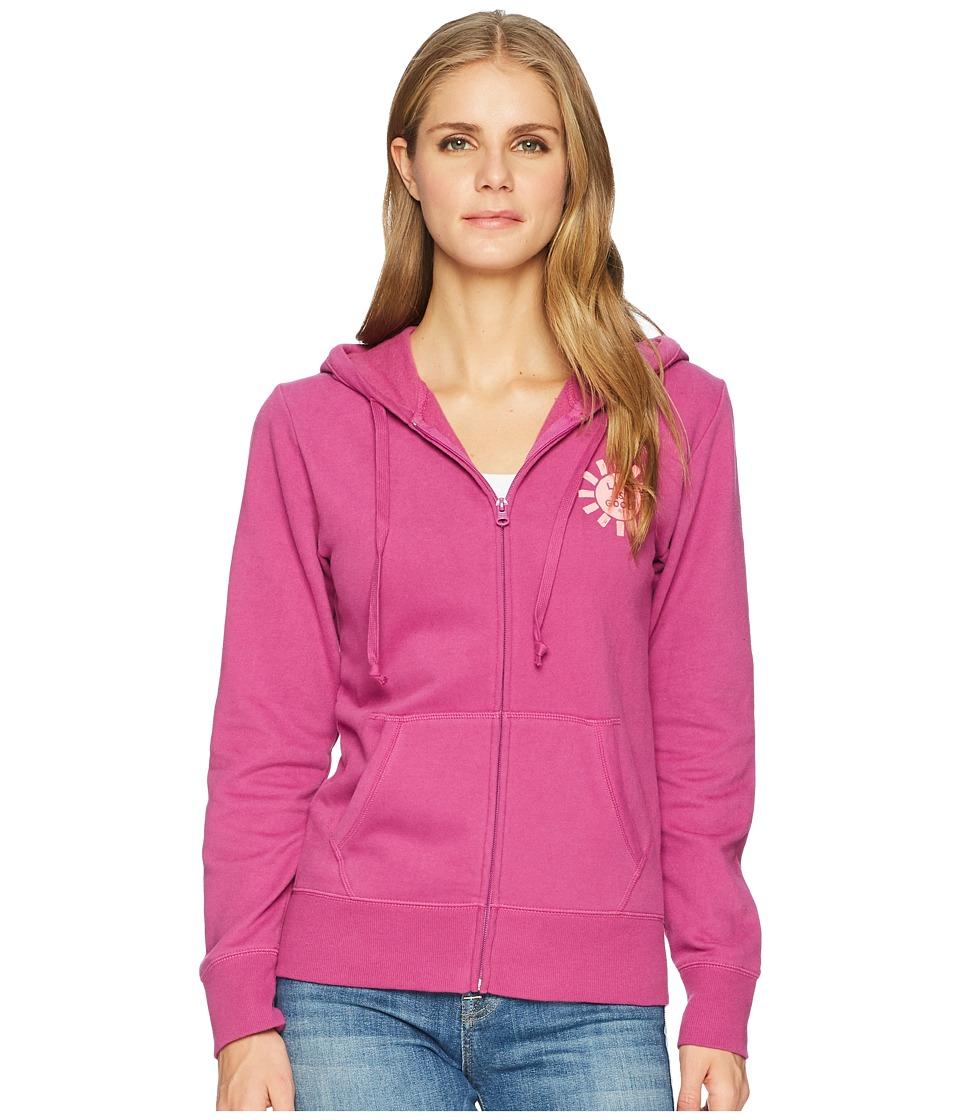 Life Is Good Print Pattern Sun Hooded Sweatshirt (Sassy M...